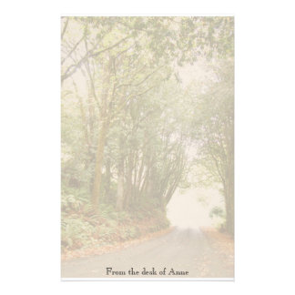Country Road w/ Trees Personalized Stationery