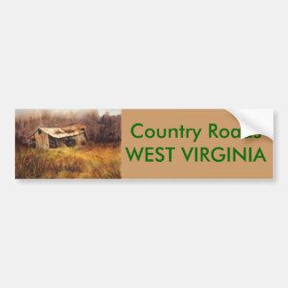 Country Roads Bumper Sticker