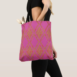 Country-Road's-Fabric-Floral-Pink-TOTES Tote Bag