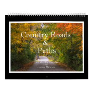 Country Roads & Paths Monthly Calendar
