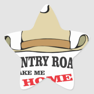 country roads take me home dude star sticker