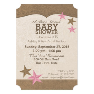 Country Rodeo Western Baby Shower Card