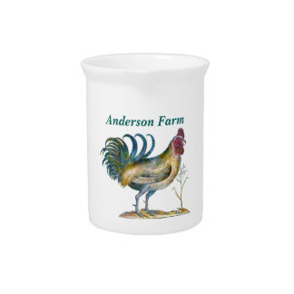 Country Rooster Beverage Pitcher