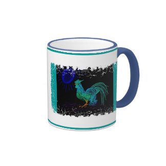 Country Rooster (Black) Coffee Mug