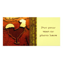 Country Rooster Card