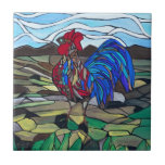 Country rooster ceramic tile