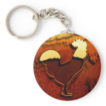 Country Rooster Keychain