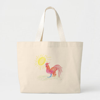 Country Rooster Large Tote Bag