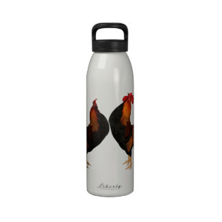 Country Roosters Liberty Water Bottle