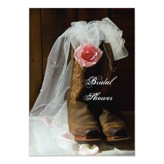 "Country Rose Bridal Shower Invitation 5"" X 7"" Invitation Card"
