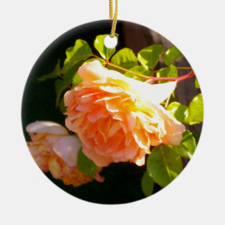 Country Rose Ceramic Ornament