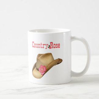 Country Rose Coffee Cup Classic White Coffee Mug