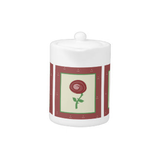 Country Rose Tea Pot