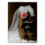 Country Rose Thank You Note Card