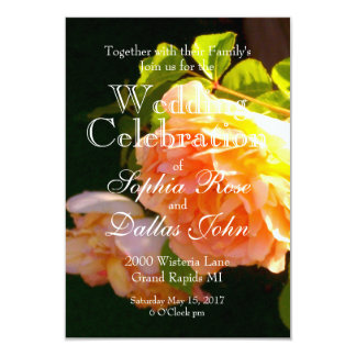 Country Rose Wedding collection Card