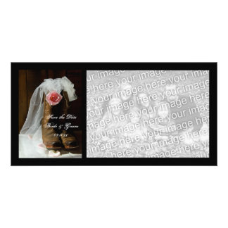 Country Rose Wedding Save the Date Photo Card