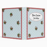 Country Roses Dots and Gingham 1 Inch Binder