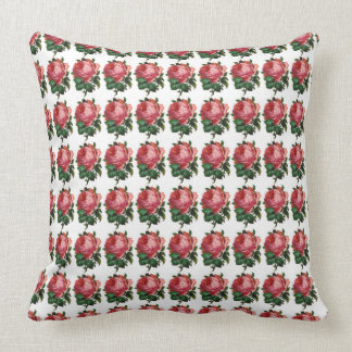 Country-Roses-Elegant-Vintage_Home-Accent_Pillows Throw Pillow