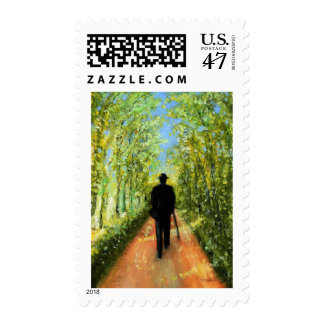 Country Rush in Oil Paint Postage