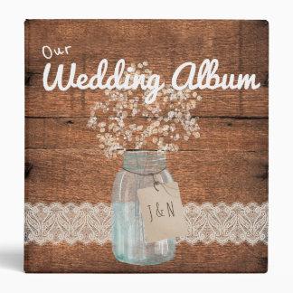 Country Rustic Barn Wedding Photo Album Binder