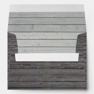 Country Rustic Barn Wood Stripes Envelope