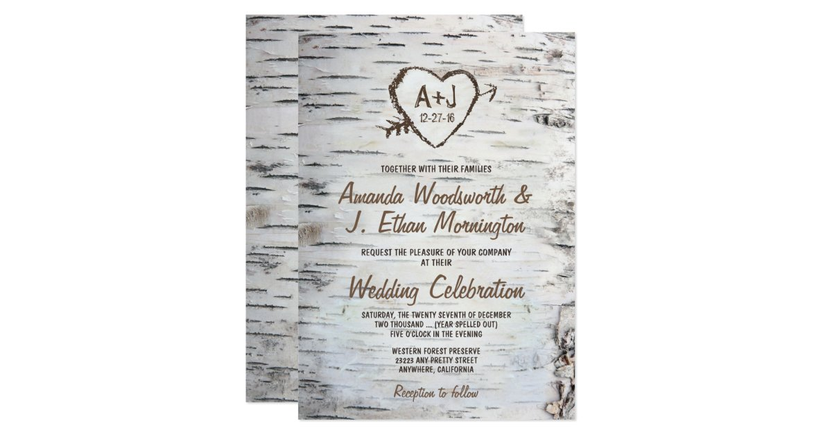 Rustic Wedding Invitations Announcements – Cool Places to Send Wedding Invitations