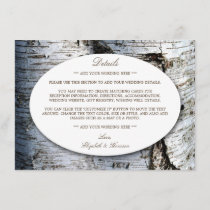 Country Rustic Birch Tree Wedding Detail Insert
