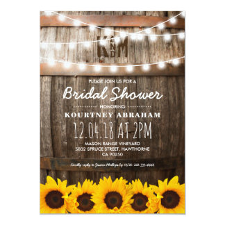 Country Rustic Bridal Shower | Sunflowers Card