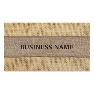 Country Rustic Burlap Business Cards