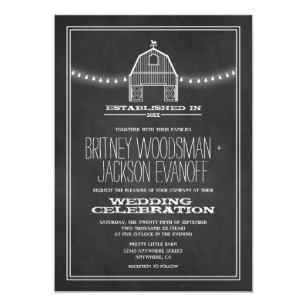 Barn Wedding Invitations Zazzle