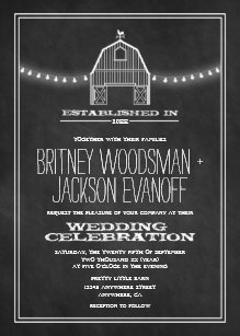 Barn Wedding Invitations Zazzle