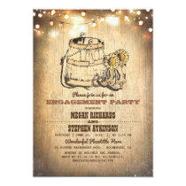 Country Rustic Cowboy Boots Engagement Party Card