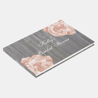 Country Rustic Daisy Bridal Shower Guest Book