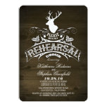Country rustic deer rehearsal dinner invitations