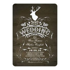 Country rustic deer wedding invitations 5