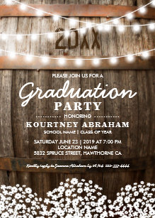 Country Rustic Graduation Party