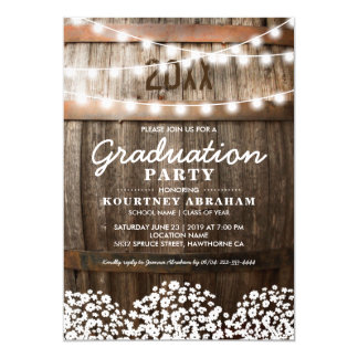 Country Rustic Graduation Party | Class of 2019 Invitation