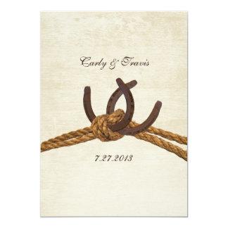 Country Rustic Horseshoes Wedding Invitation