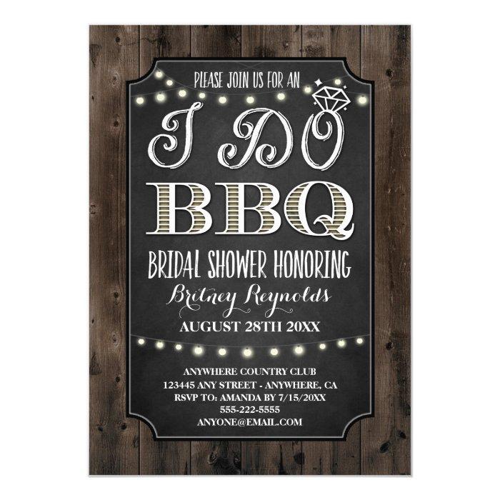 Country Rustic I Do BBQ Bridal Shower Invitations | Zazzle