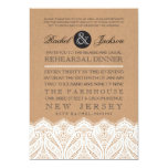 """Country Rustic Lace Rehearsal Dinner Invitation 5"""" X 7"""" Invitation Card"""