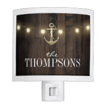 Country Rustic Lights Nautical Anchor Night Light