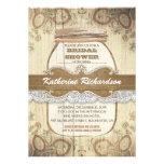 country rustic mason jar bridal shower personalized invitations