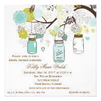 Country Rustic Mason Jar Bridal Shower Invites Personalized Announcement