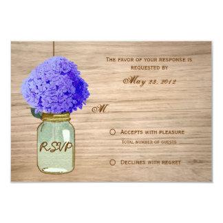 Country Rustic Mason Jar CornFlower Blue RSVP Custom Announcement