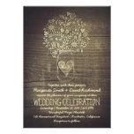 country rustic mason jar floral wedding invitation invites