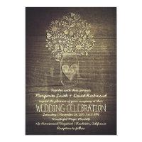 country rustic mason jar floral wedding invitation 5&quot; x 7&quot; invitation card (<em>$2.06</em>)