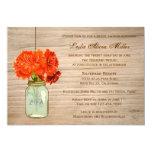 Country Rustic Mason Jar Flowers  Bridal Shower Card