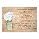 Country Rustic Mason Jar Hydrangea Bridal Shower Card