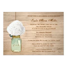Country Rustic Mason Jar Hydrangea Bridal Shower 5