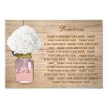 Country Rustic Mason Jar Hydrangea Directions 3.5x5 Paper Invitation Card